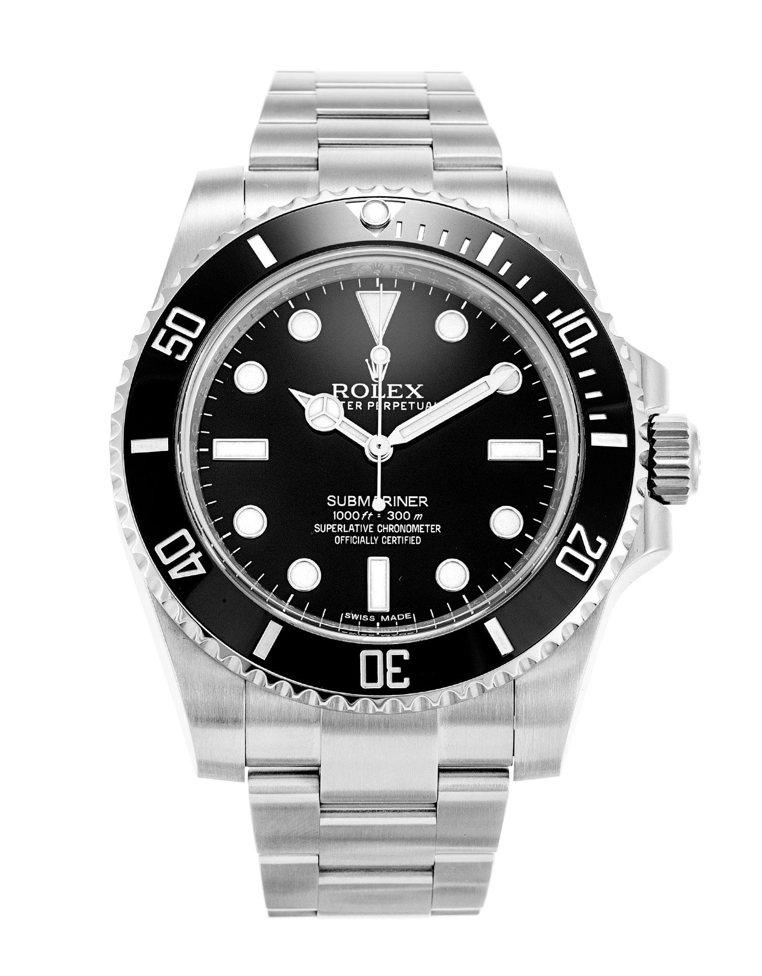 rolex submariner 114060 watch watchfinder co. Black Bedroom Furniture Sets. Home Design Ideas