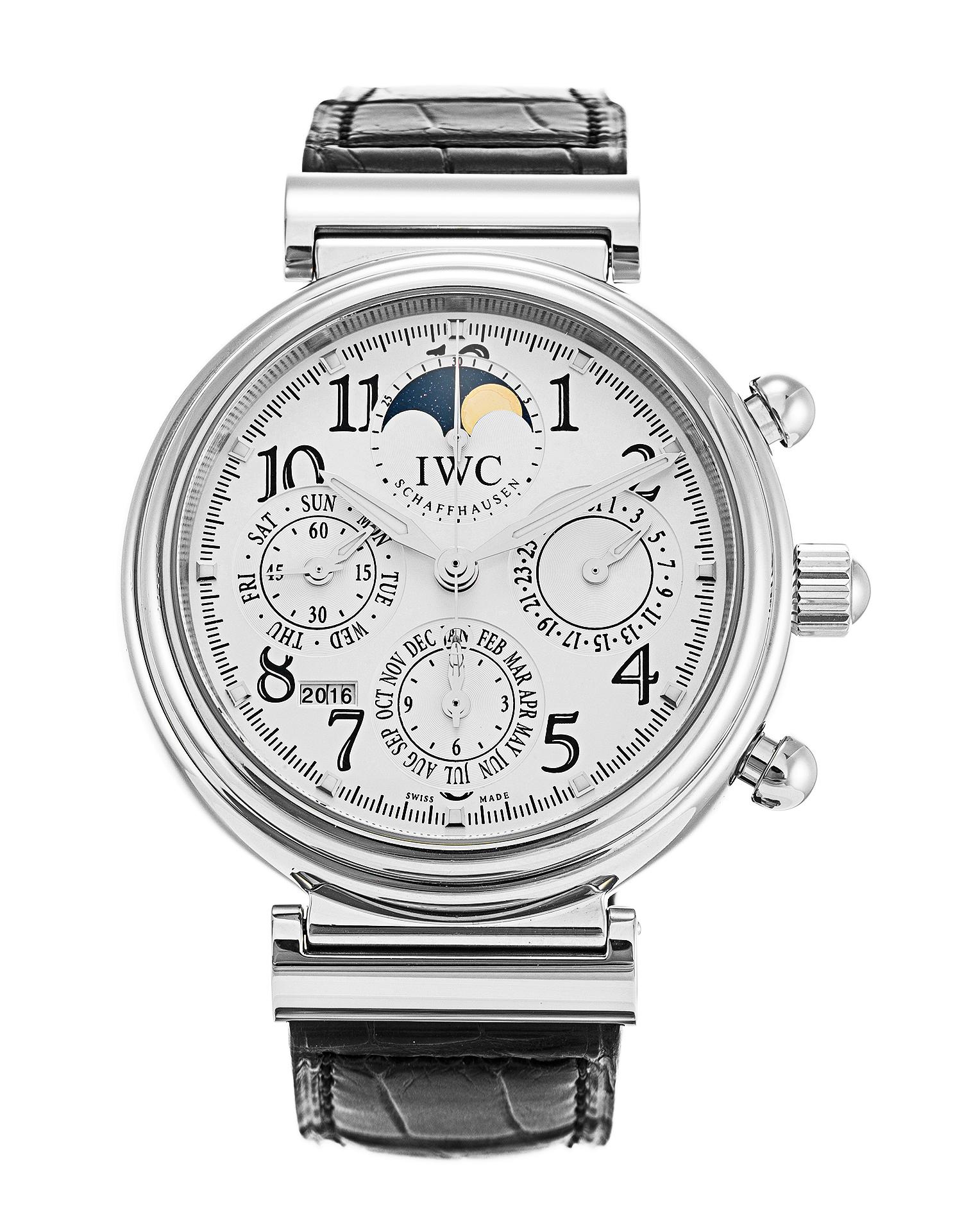 réplica IWC Da Vinci calendario perpetuo cronógrafo IW375803 reloj