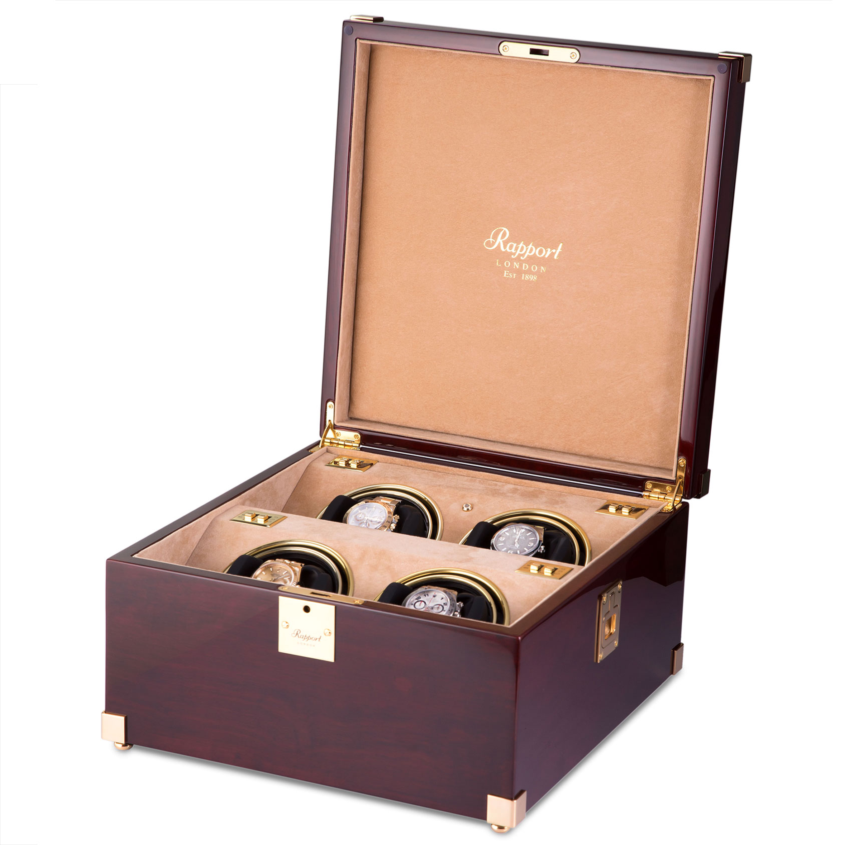 Captains Optima Watch Winder Mahogany