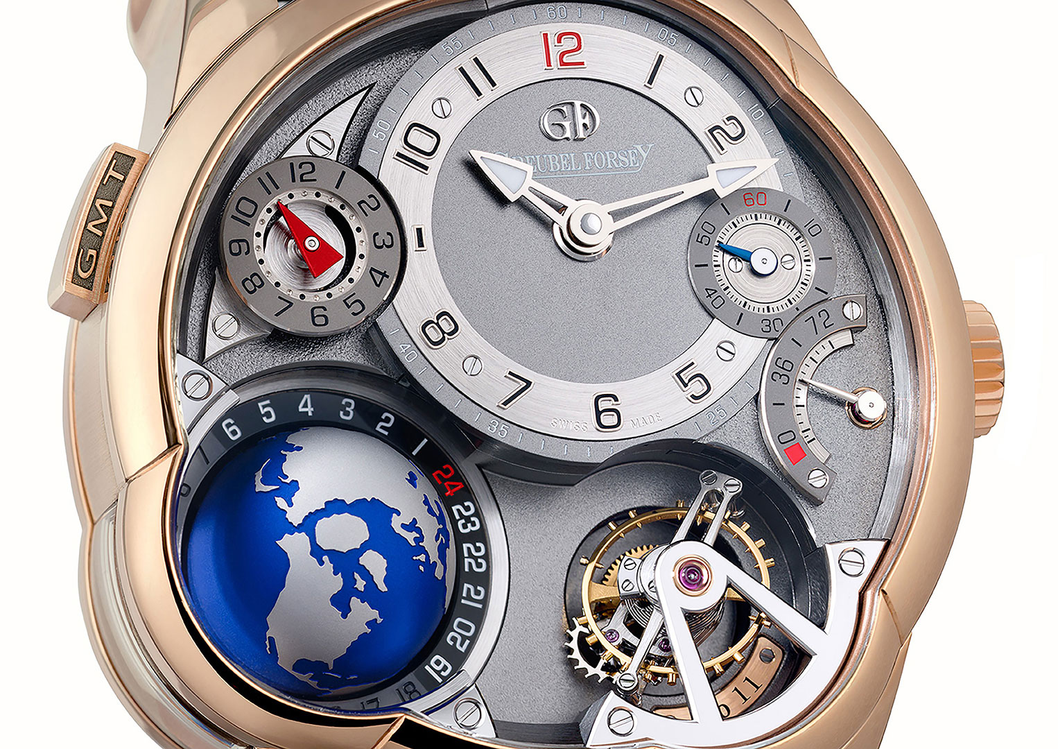A Greubel Forsey GMT Tourbillon in rose gold