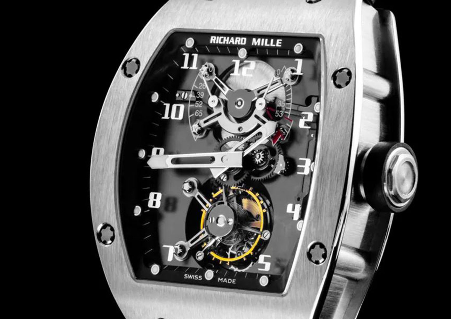 The RM 001 tourbillon was the brand's spectacular first watch