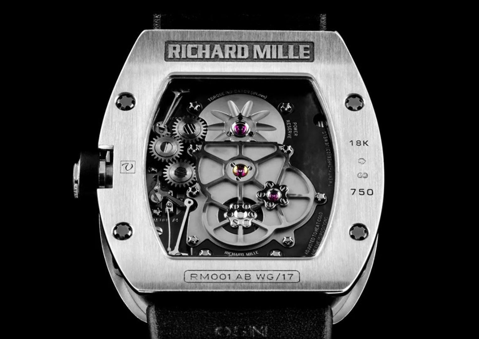 The reverse of Richard Mille's RM 001 model