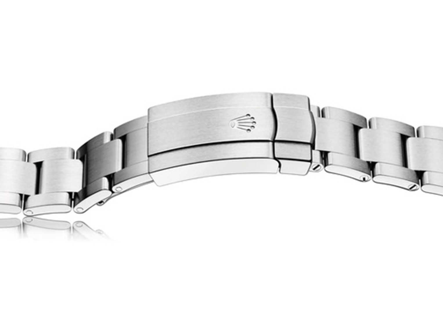 A modern version of Rolex's much-imitated Oyster bracelet