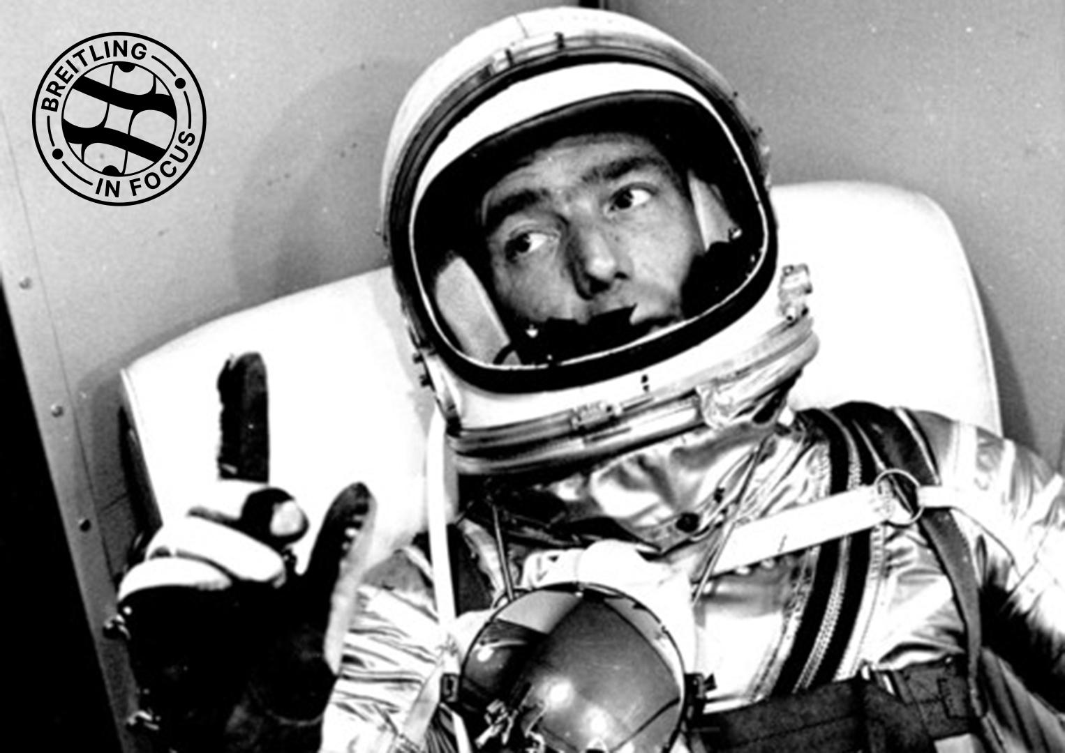 Pioneering NASA astronaut Scott Carpenter in Aurora 7