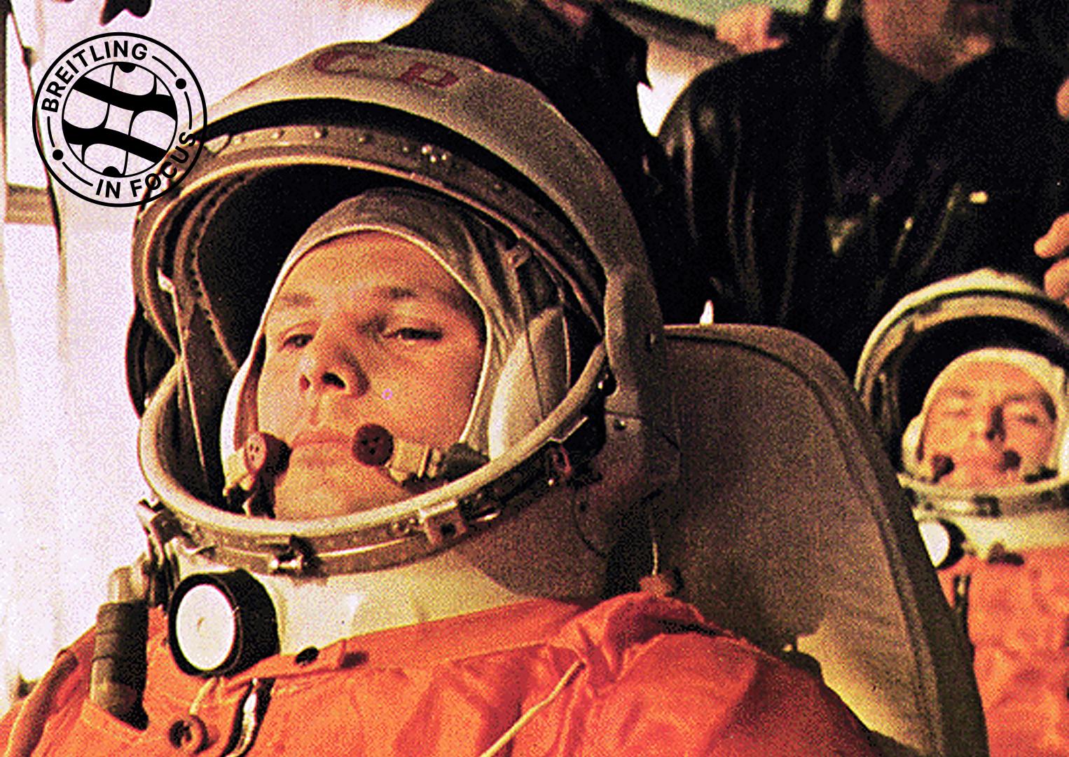 Russian Yuri Gagarin, the first man in space