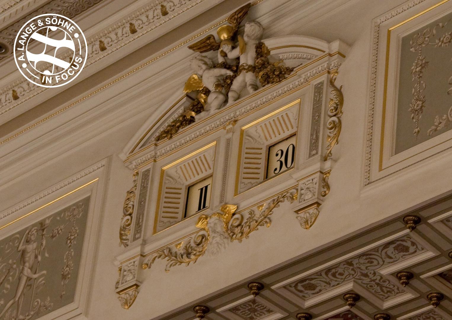 This old clock in Dresden's Semper Opera House inspired the Zeitwerk