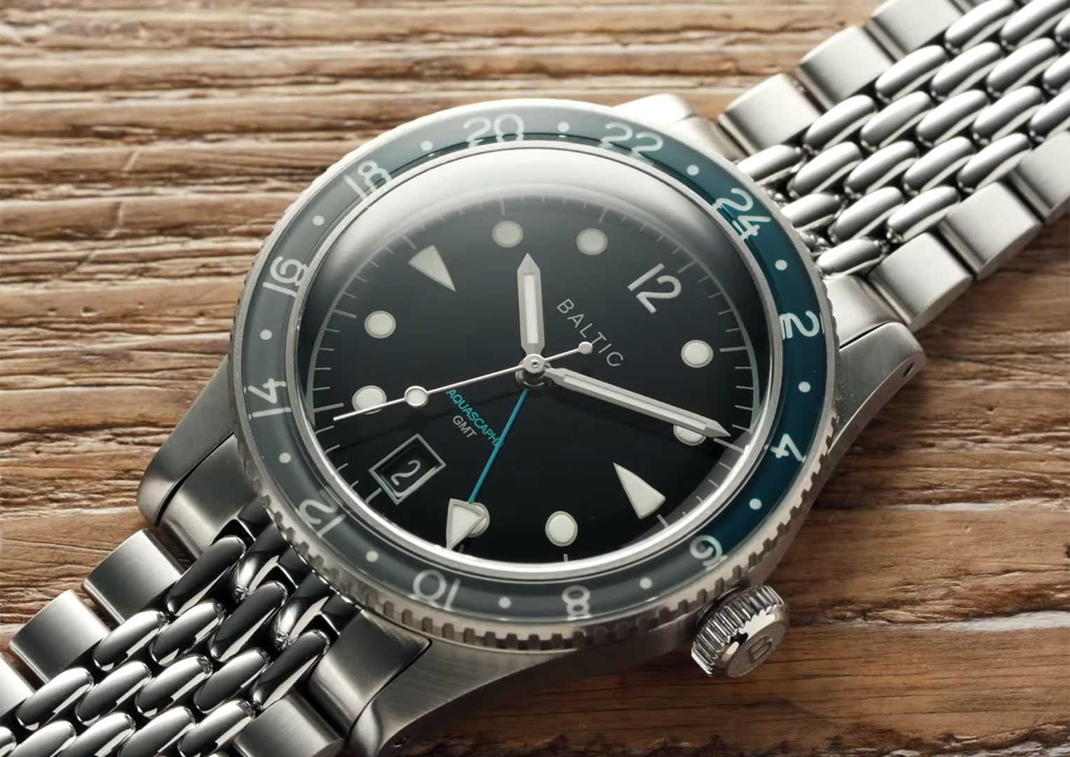 The Baltic Aquascaphe GMT will be available to customers November 27th 2020