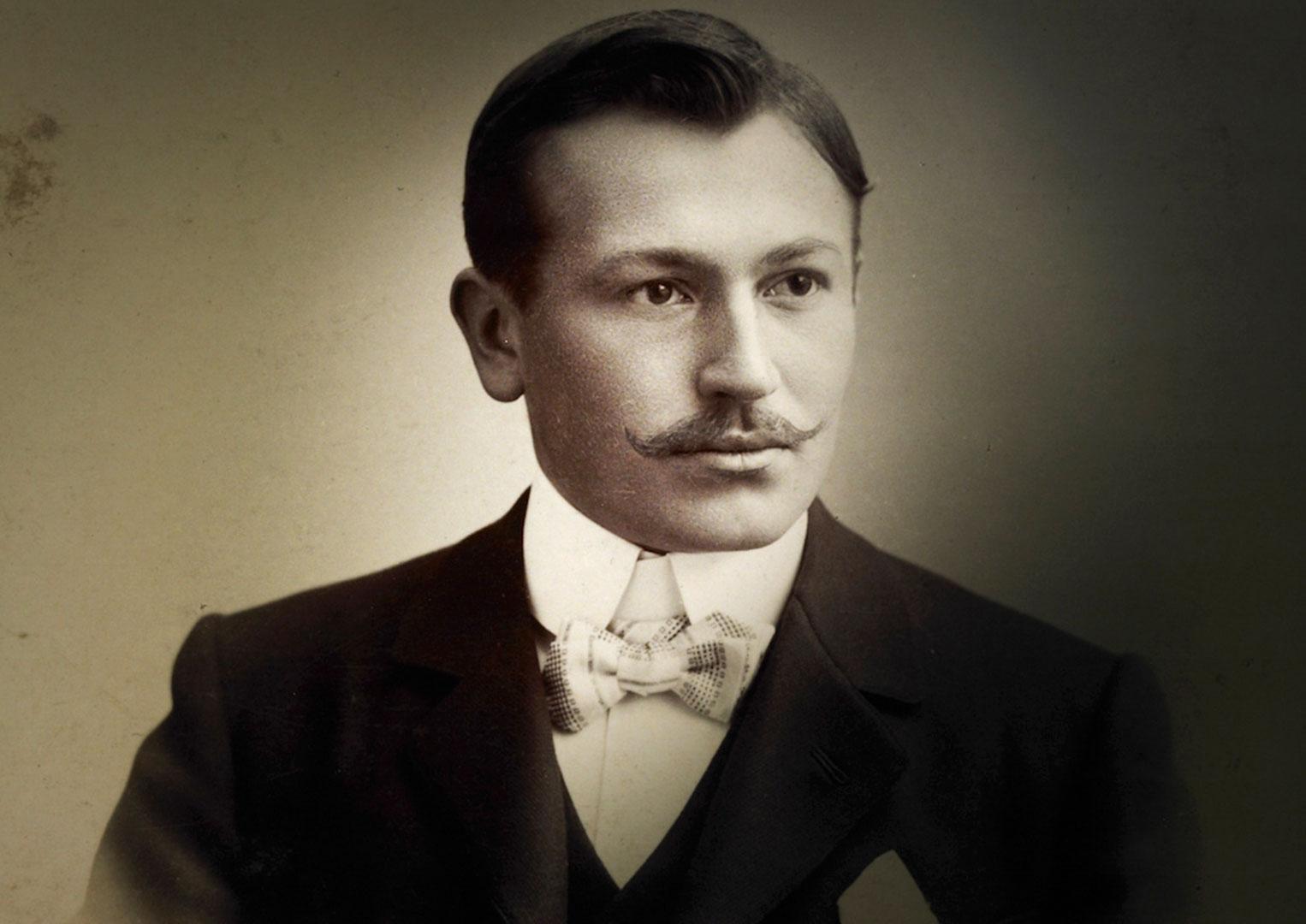 A young Hans Wilsdorf