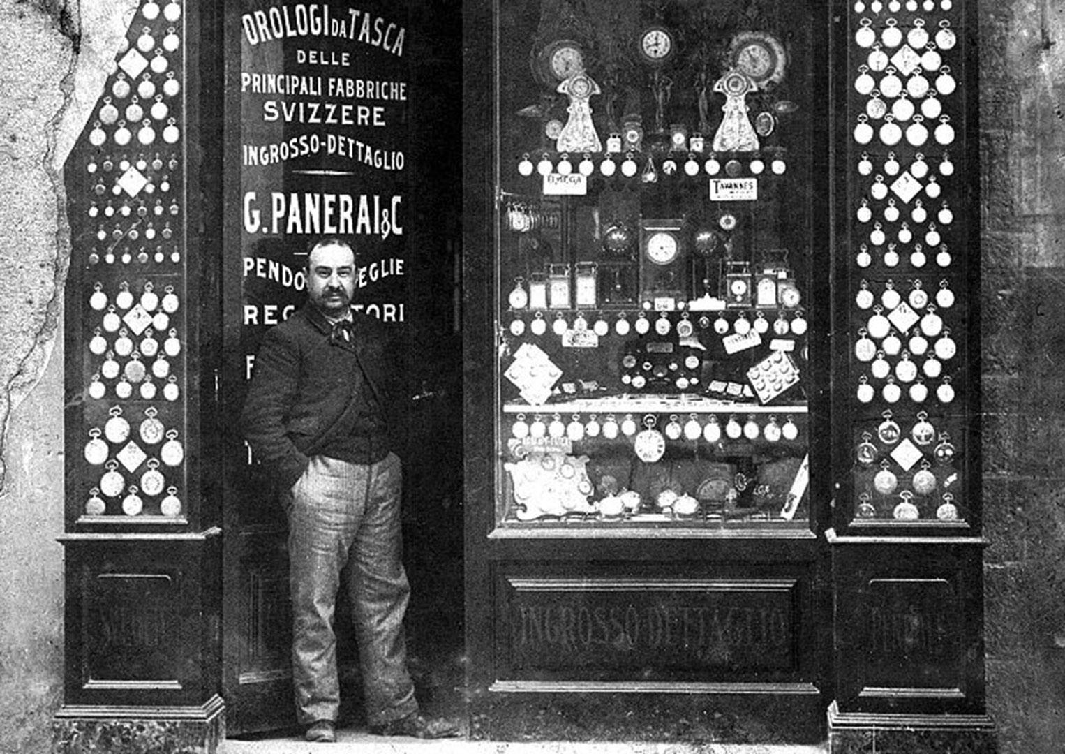 Giovani Panerai outside his Florence shop