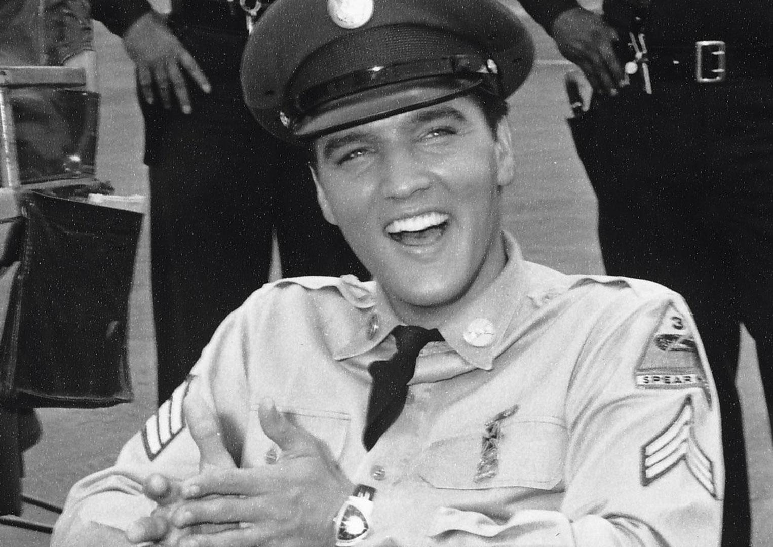 Musical icon Elvis Presley wearing his Hamilton Ventura