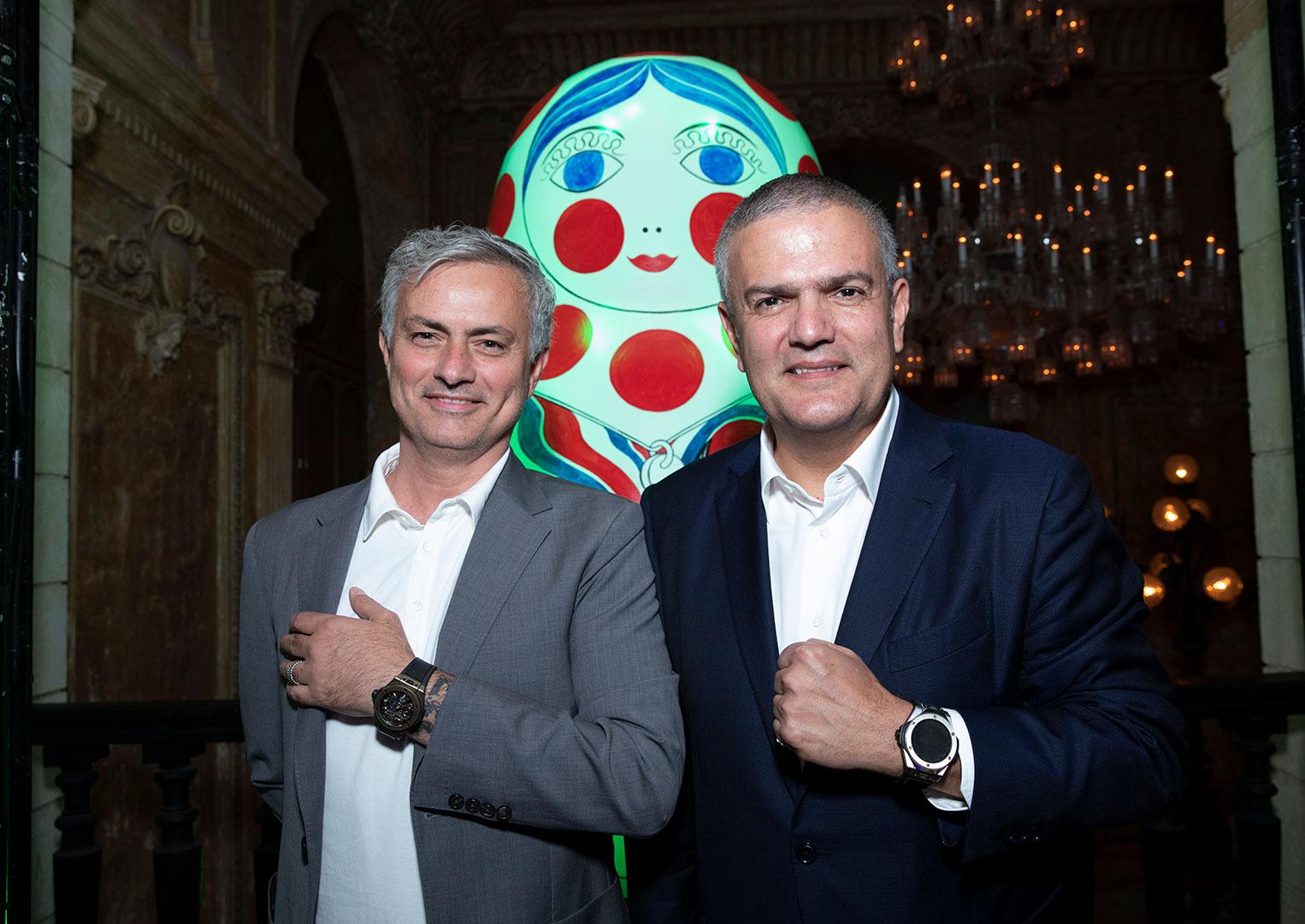 Jose Mourinho with Hublot CEO Ricardo Guadalupe