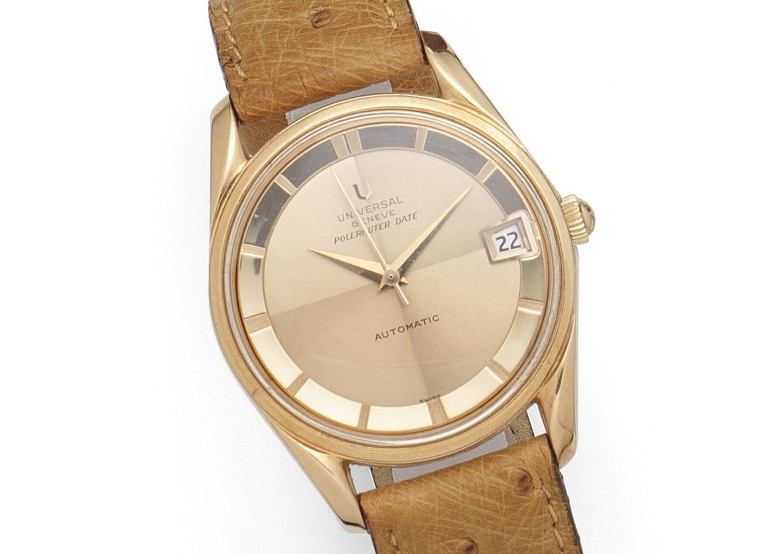 Universal Geneve's Polerouter is a vintage classic. Image courtesy of Bonhams.
