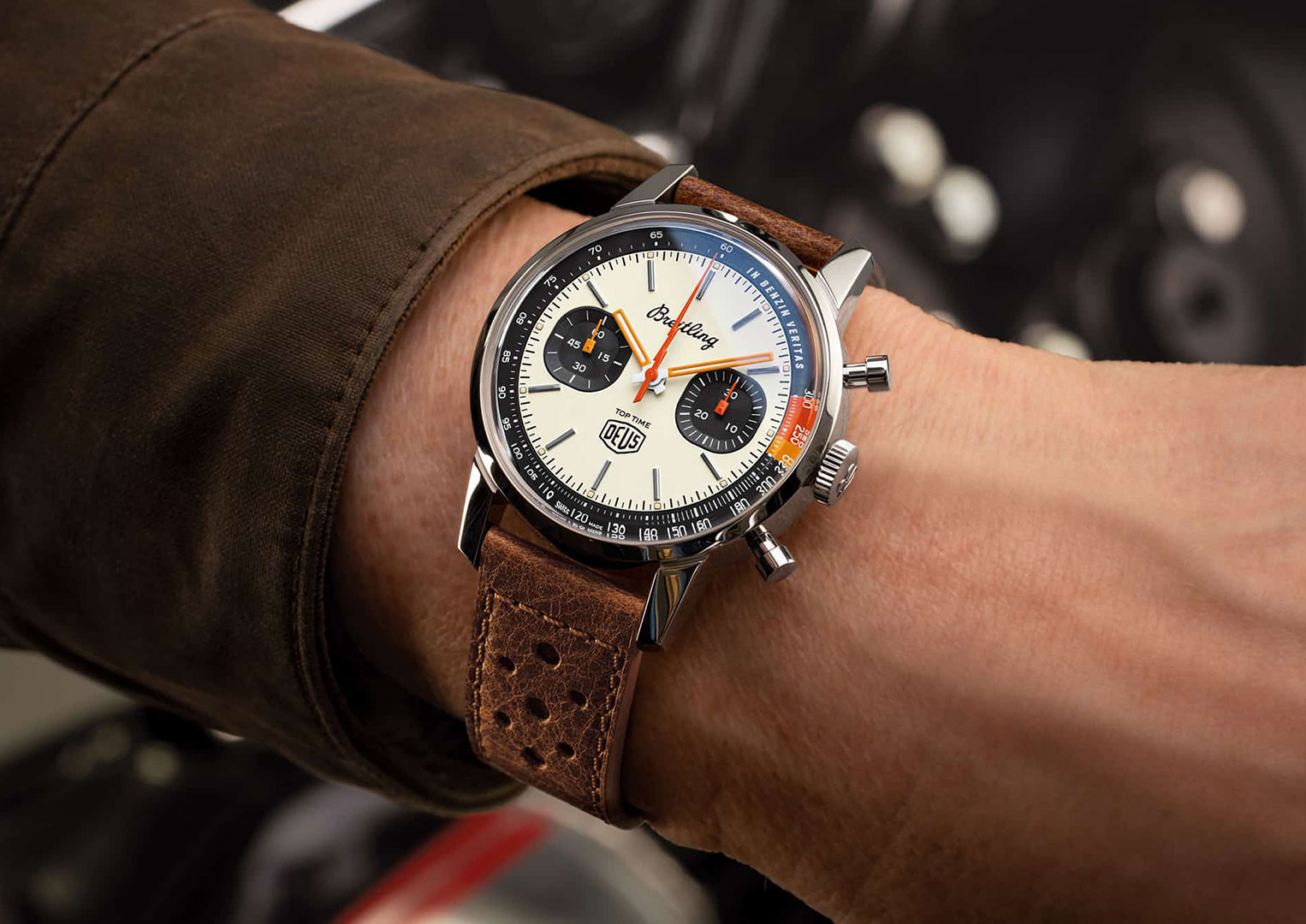 The Breitling Top Time was re-introduced to the market in 2020
