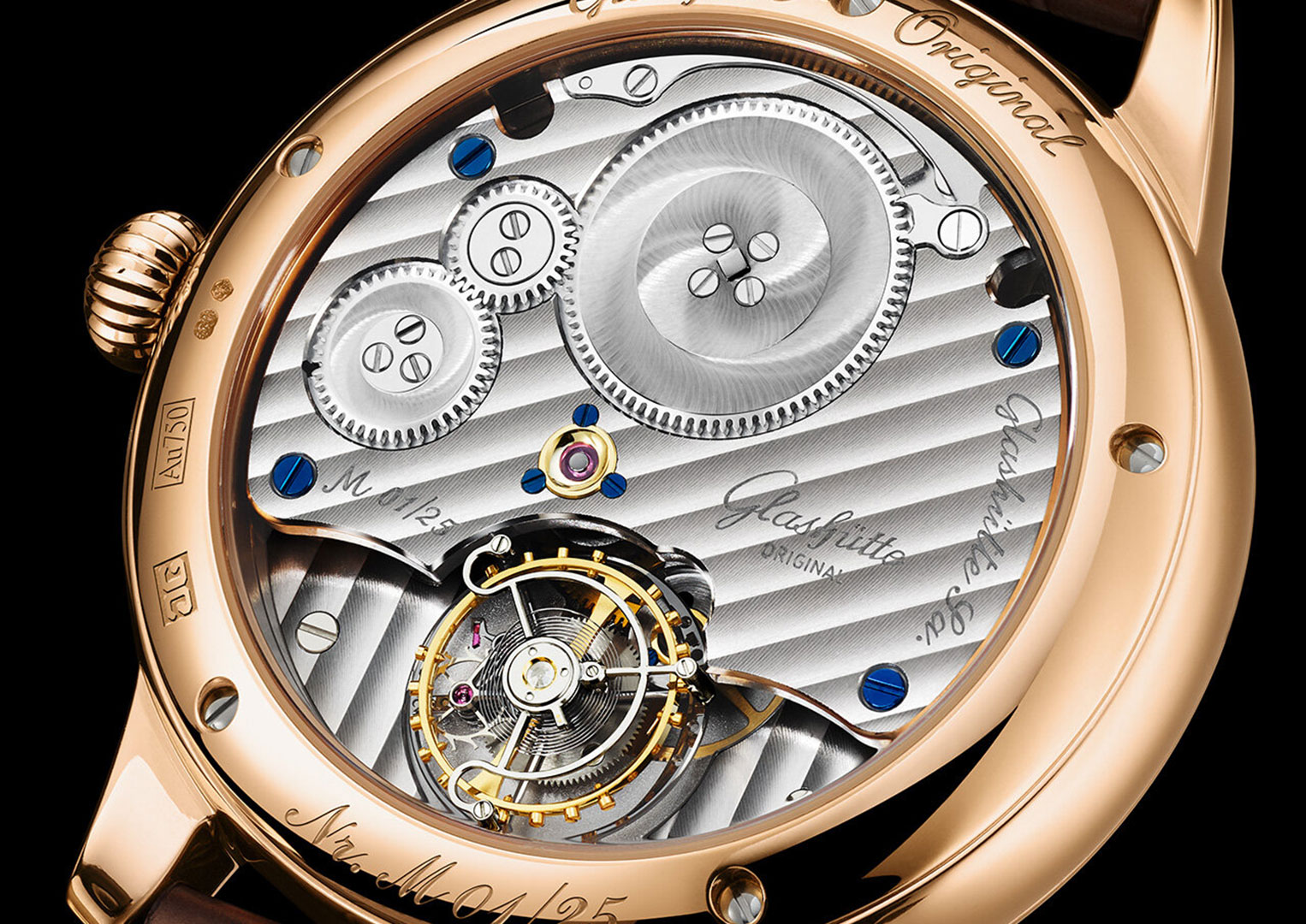 A flying tourbillon is only supported on one side