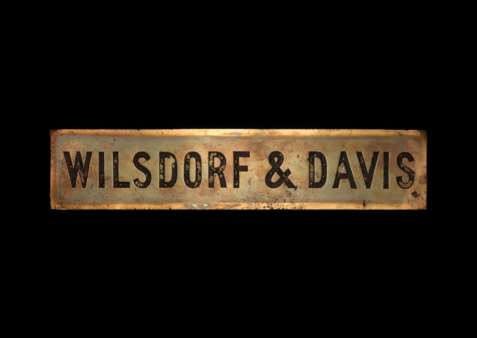 The Wilsdorf & Davis nameplate in London, 1905