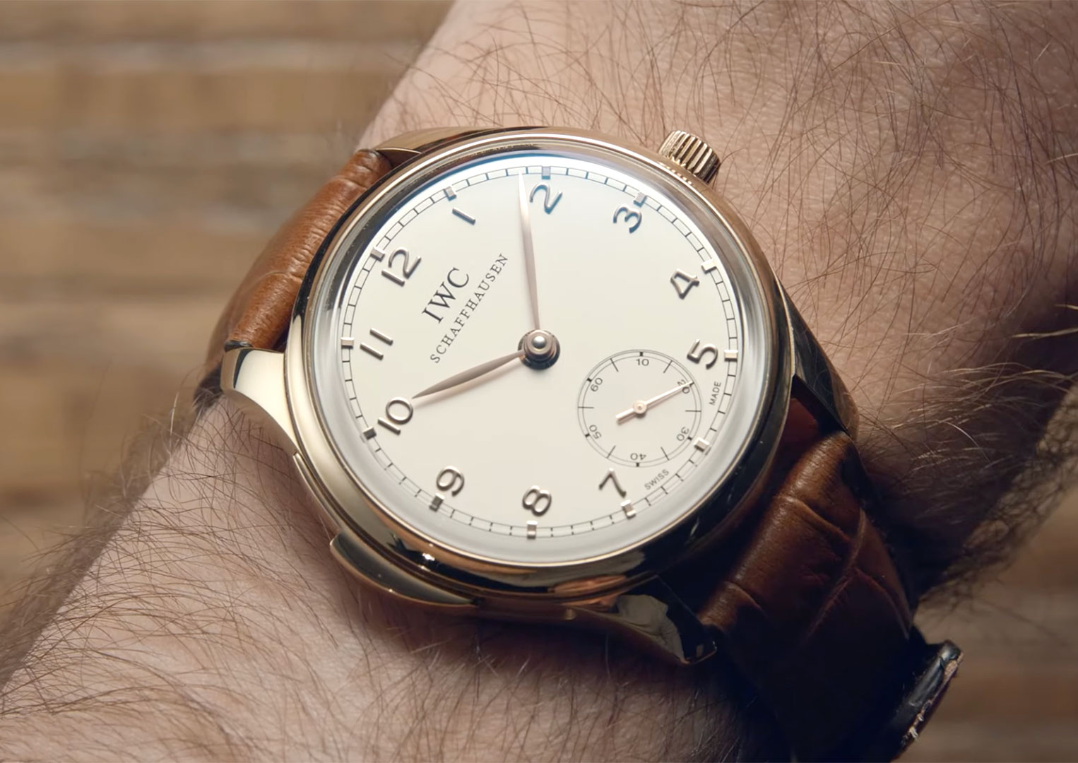 The IWC Portugieser Minute Repeater IW544907 has a diameter of 44.2mm and a height of 14mm
