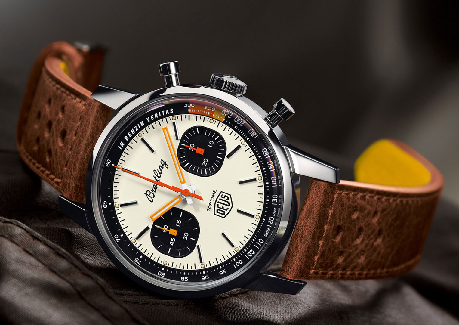 The Breitling Top Time Deus Chronograph is limited to 1500 pieces)