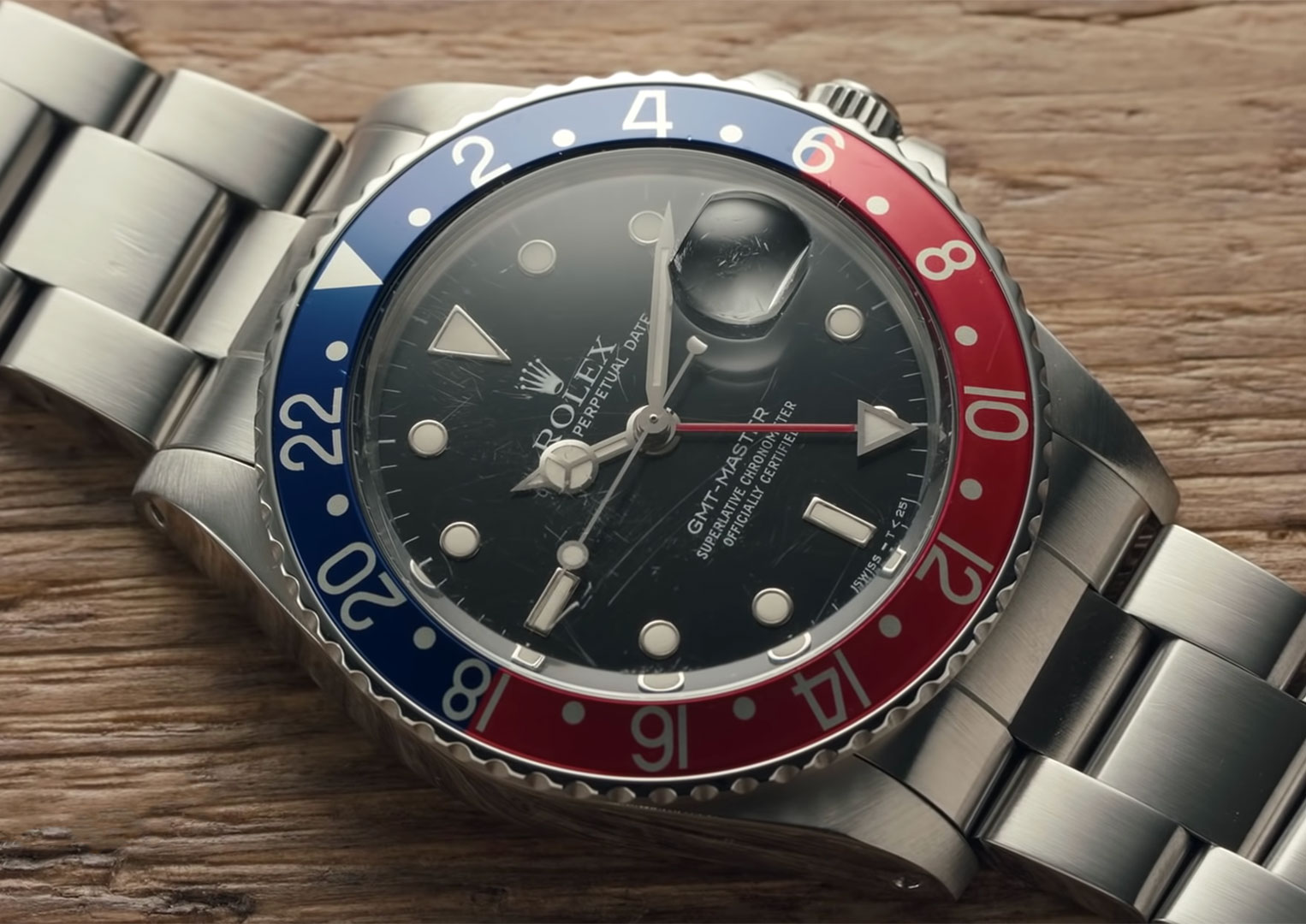 Edgar Mitchell wore both an Omega Speedmaster and his personal Rolex GMT-Master on the moon. Making the Rolex GMT-Master an unofficial moonwatch
