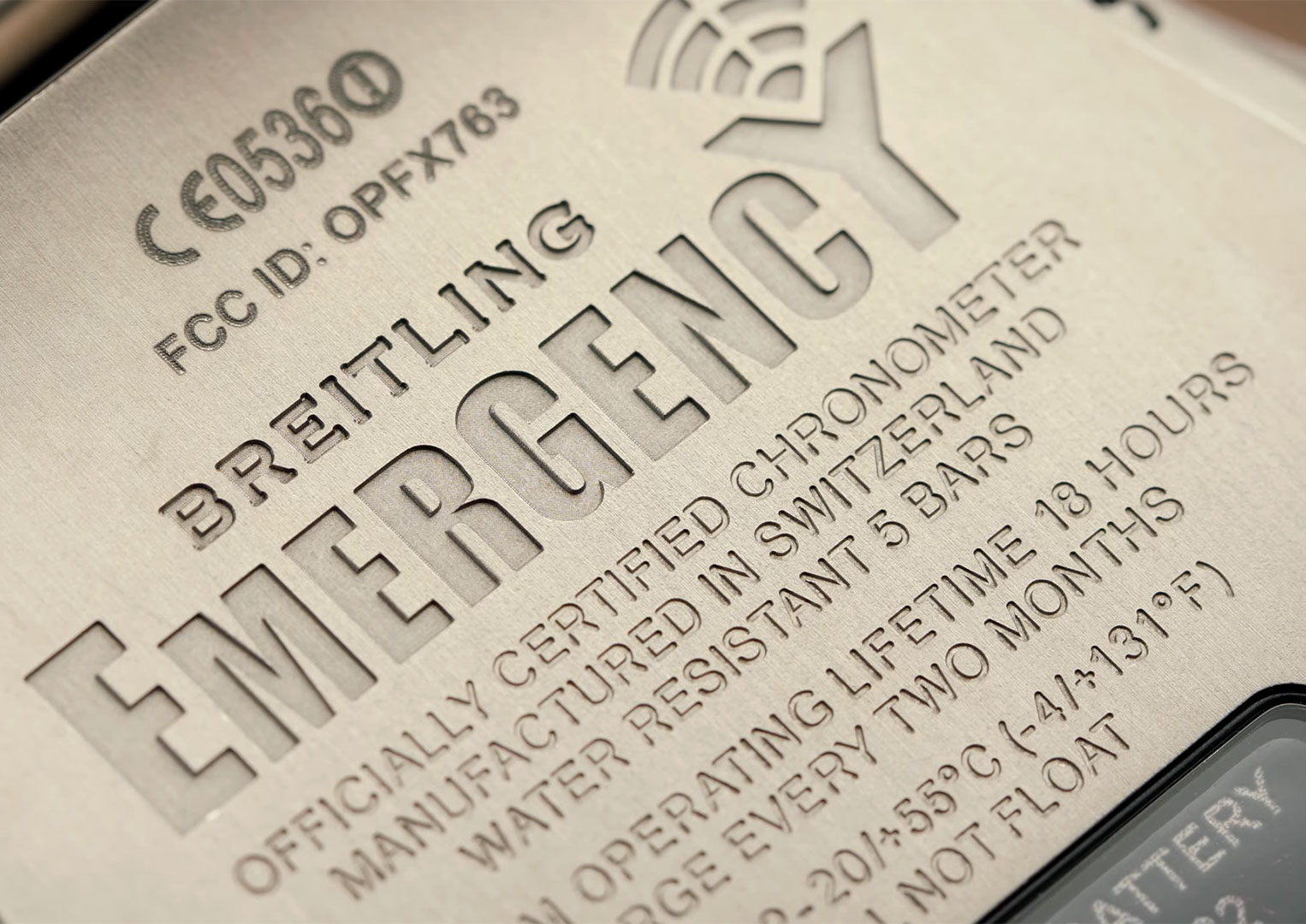The Breitling Emergency has a built in 406 MHz transmitter
