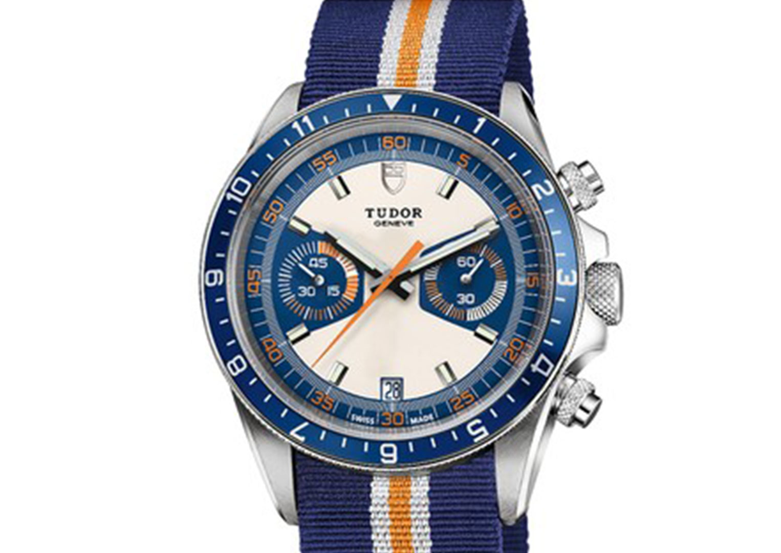 An Oyster Date Chronograph, later re-issued as the Heritage Chrono Blue