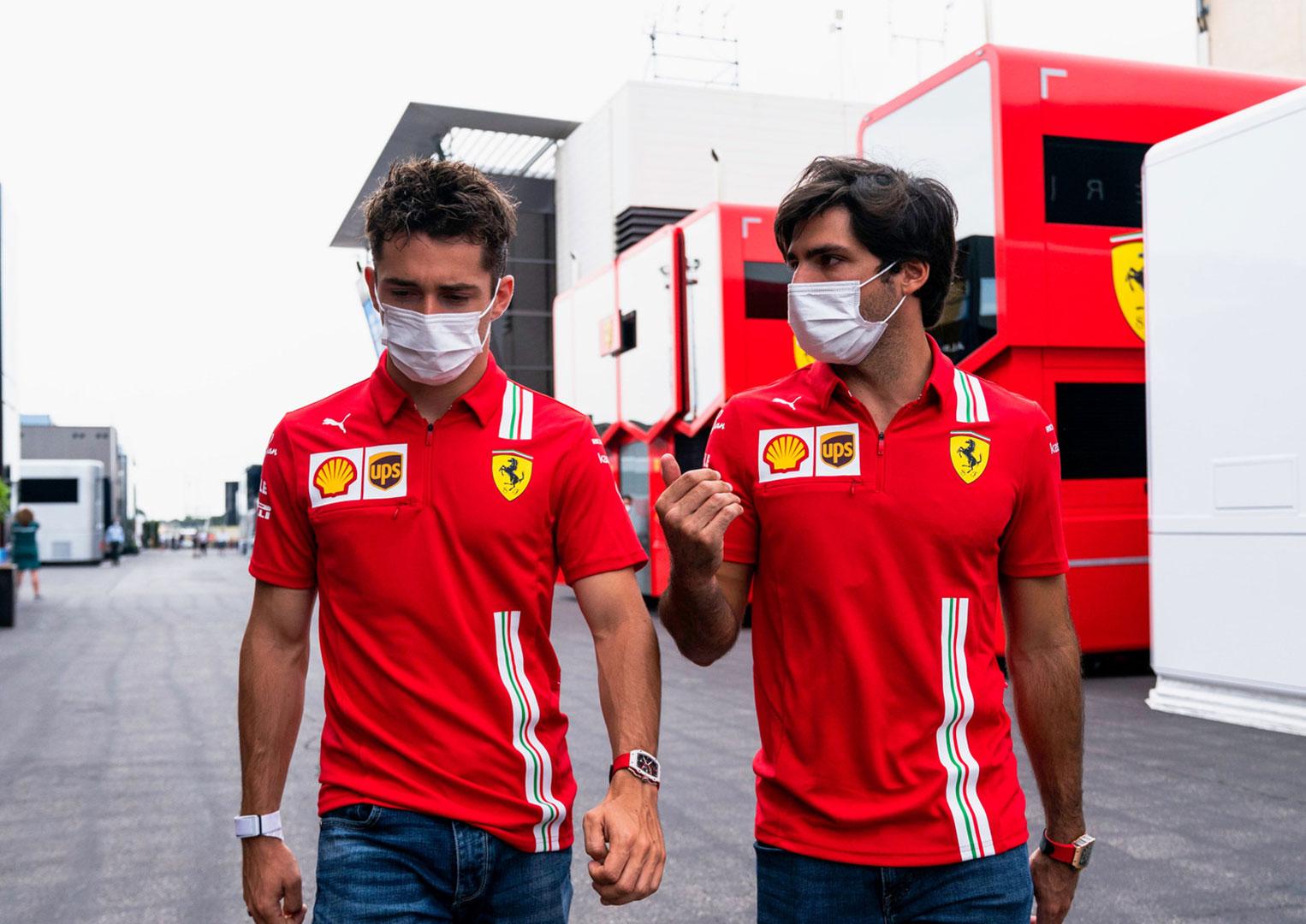 Ferrari drivers wearing Richard Mille watches