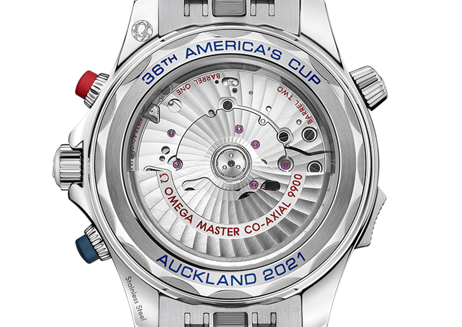 The Omega Seamaster Diver 300M America's Cup Chronograph retails at £8,800)