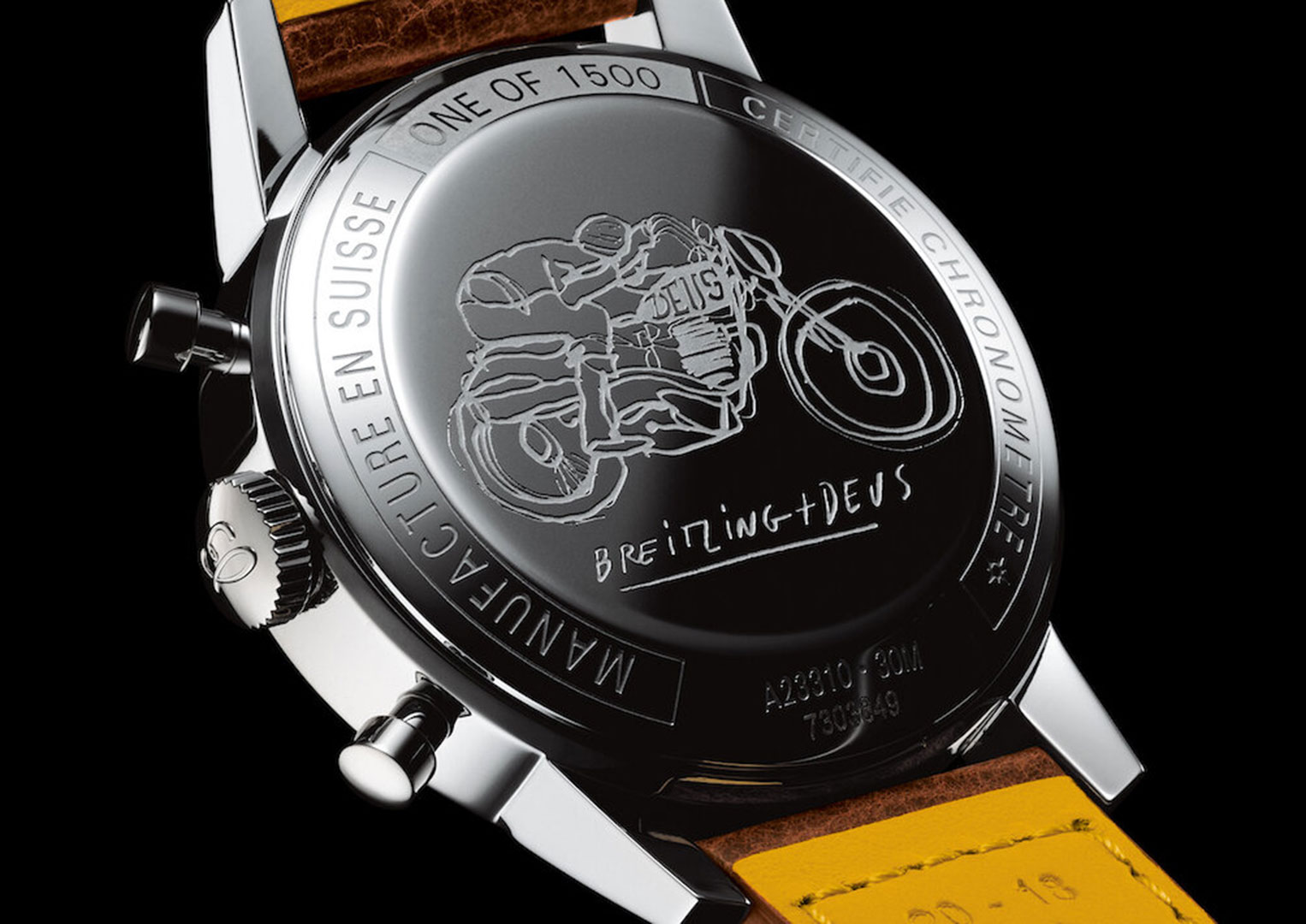 The Breitling Top Time Deus Chronograph costs £4,100)