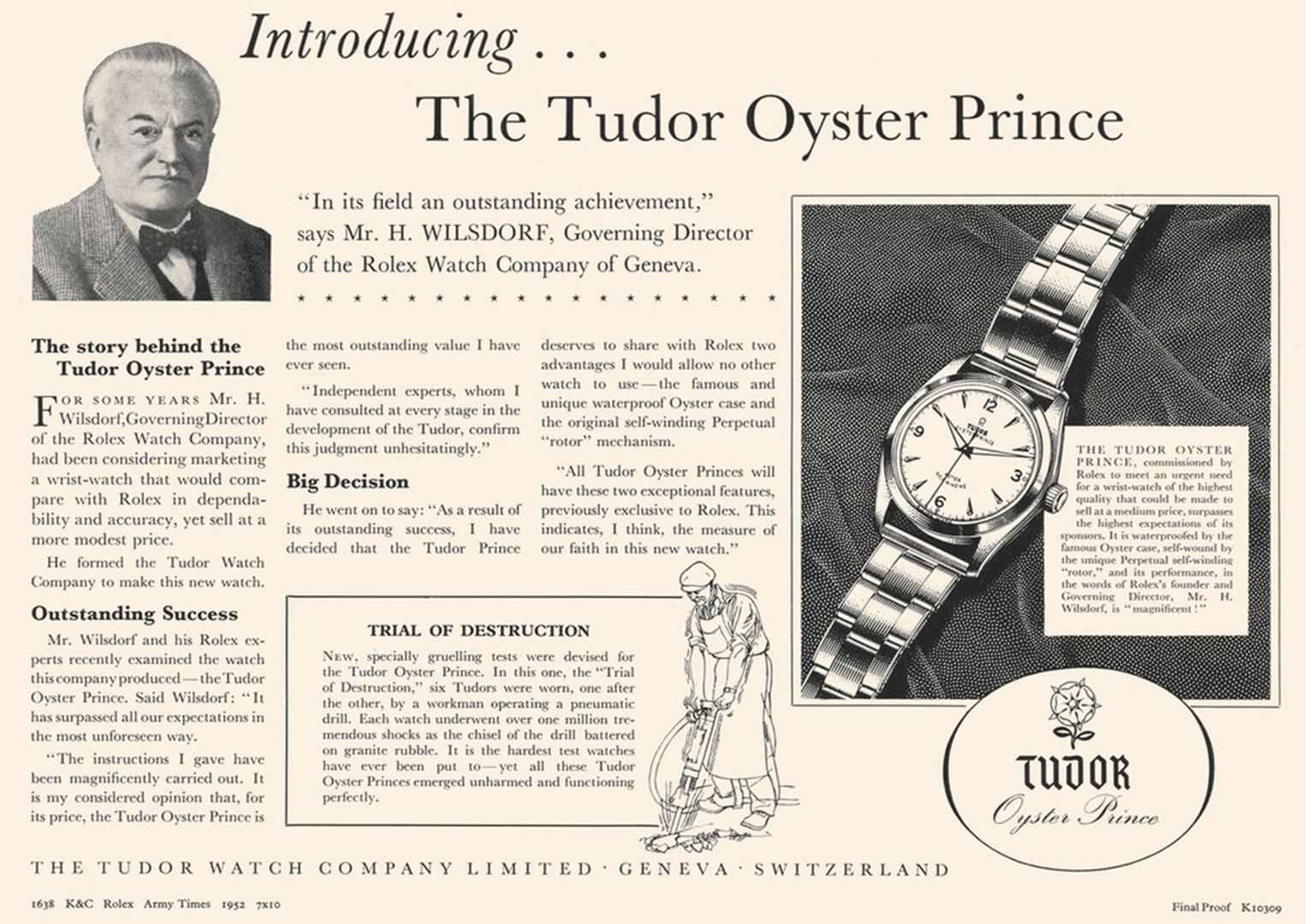 An early Tudor advert mentioning Rolex