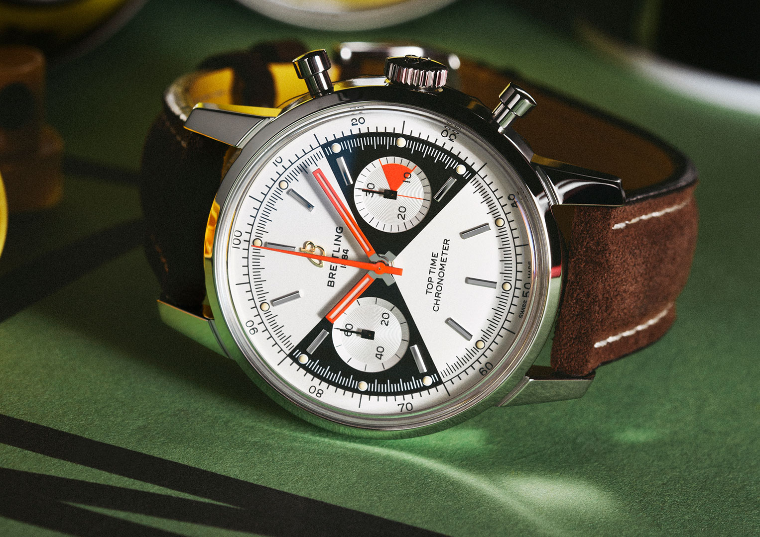 Breitling's 2020 limited edition re-issue of the Top Timer with 'zorro' dial.