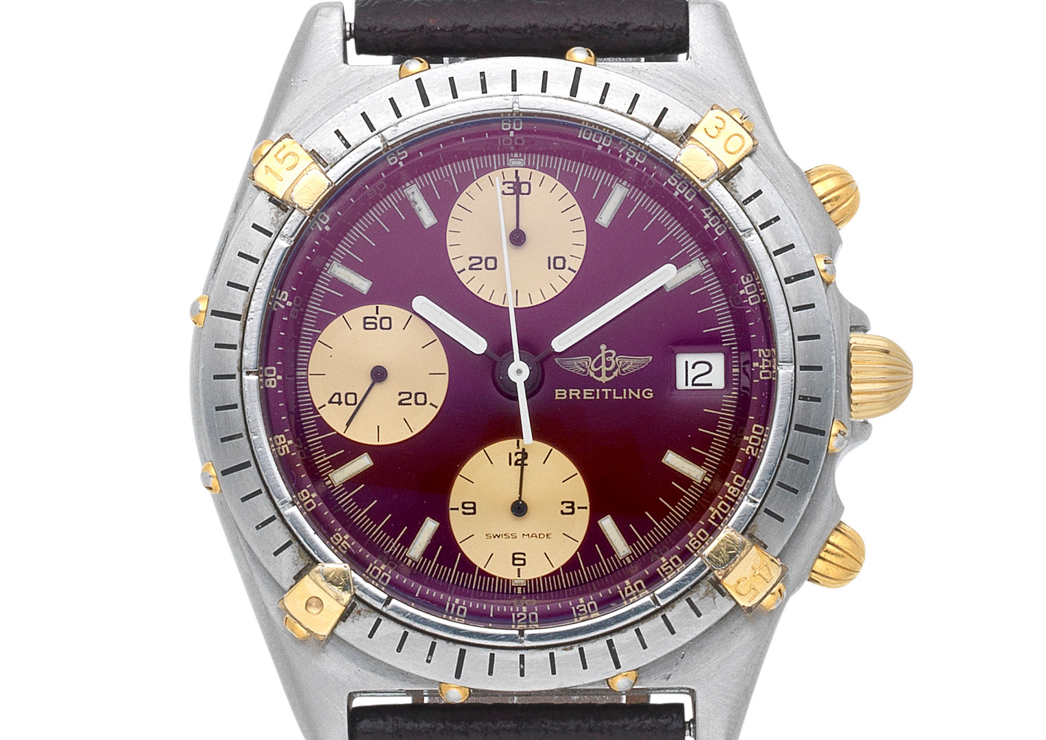 Breitling used the Calibre 7750 during the mechanical revival in the mid 1980s. Image courtesy of Bonhams