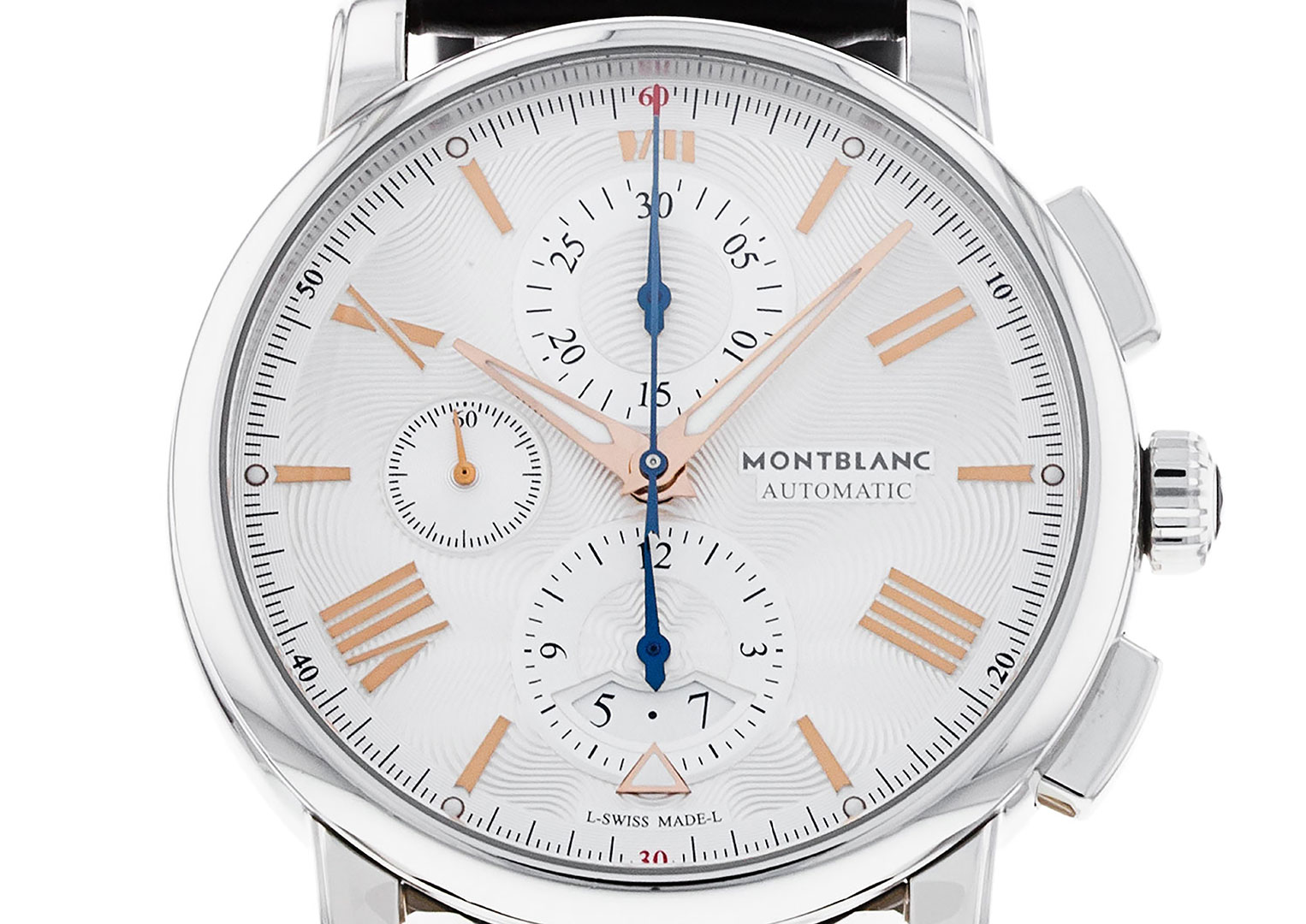 This Montblanc Star 4810 model from 2018 is just one contemporary watch that uses a Valjoux Calibre 7750