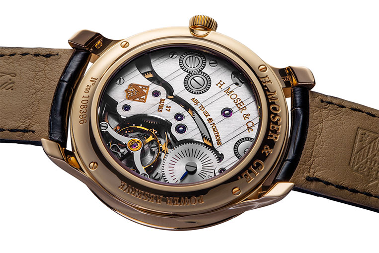The in-house movement has been inspired by vintage H. Moser & Cie. timepieces