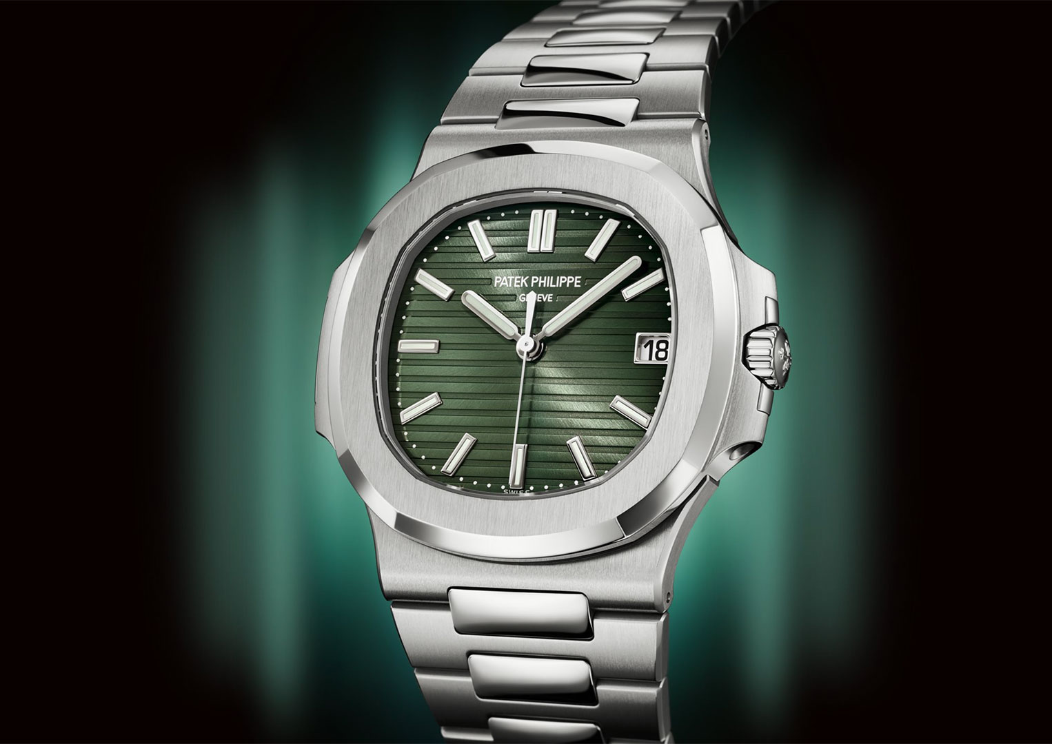 In Patek Philippe adverts, expect the watch to be set to the number 18