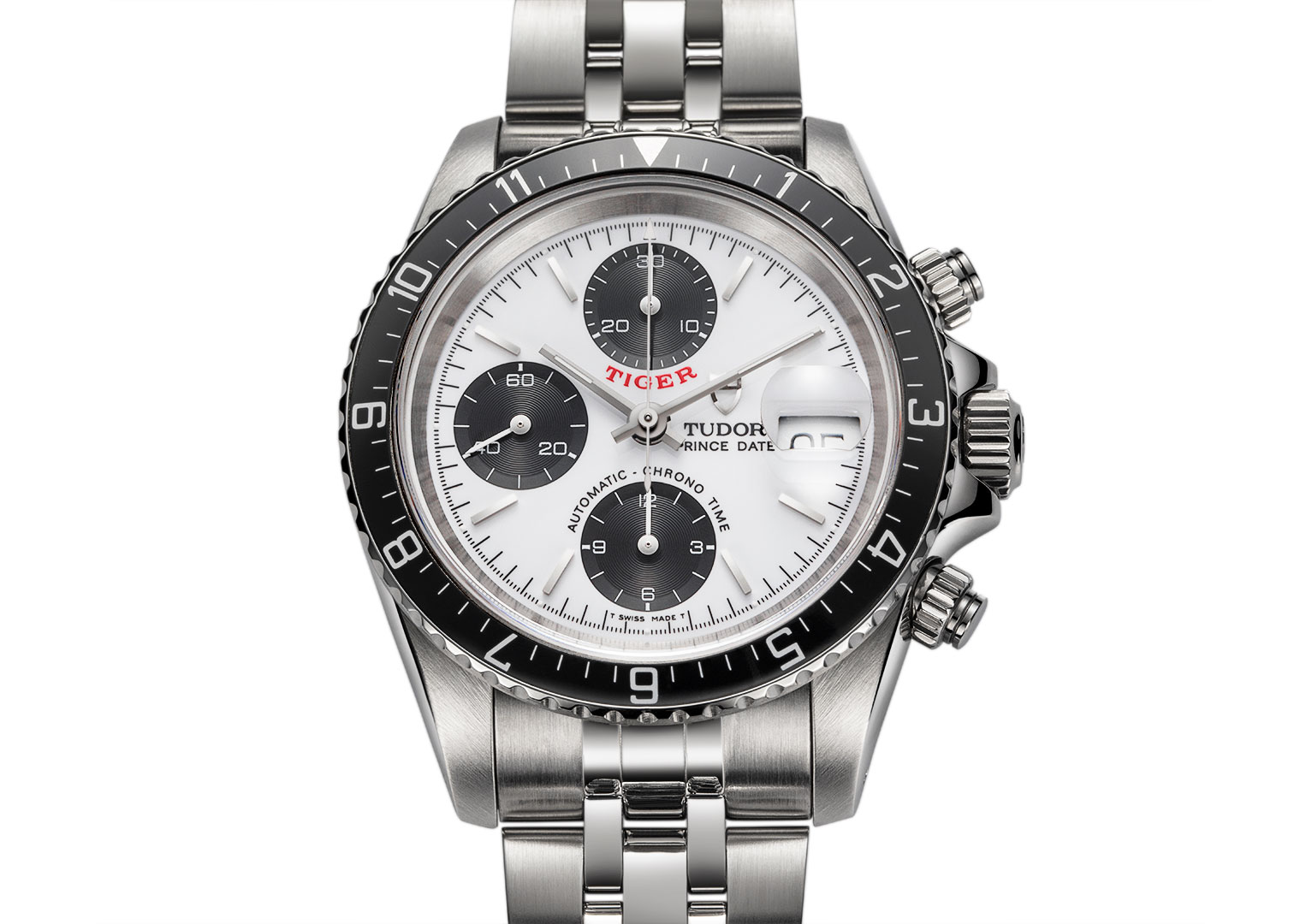 The Tudor Prince Oysterdate Chronograph at £5,000 is more than four times cheaper than the Rolex alternative: the Daytona