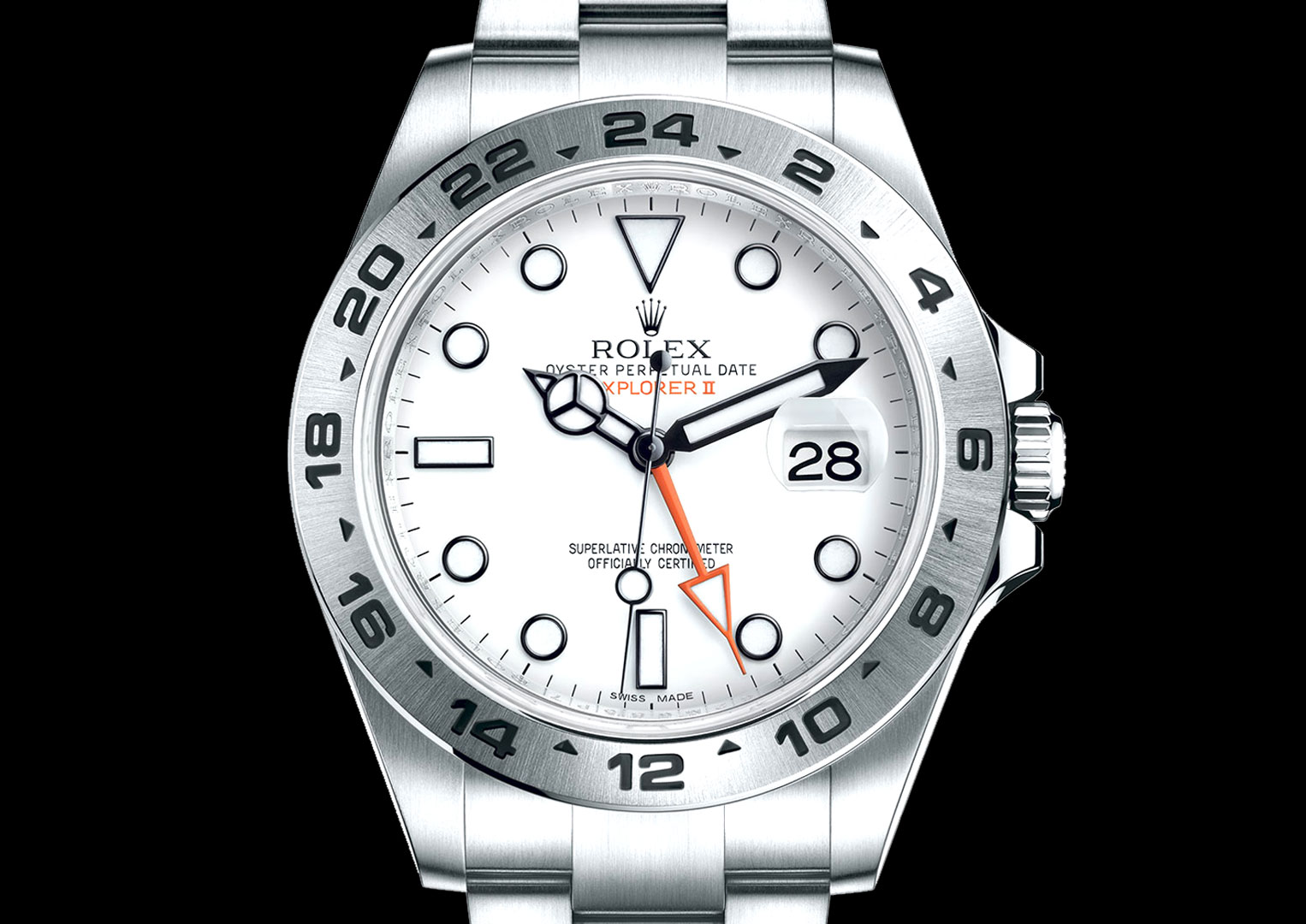 Look at any advert for a Rolex model with a date window and it'll be set to 28