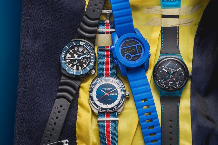 Seiko Prospex, Hamilton Pan-Europ, Nixon Unit 40, Swatch Sistem51