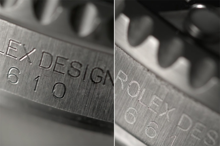 Rolex Submariner 116610LN engraving
