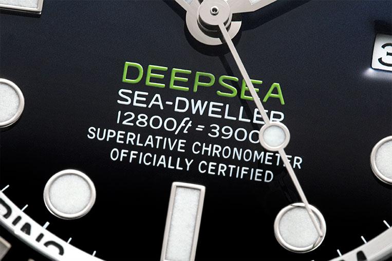 Rolex Deepsea D-Blue green highlights