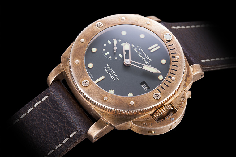 review panerai luminor submersible bronze watchfinder amp co