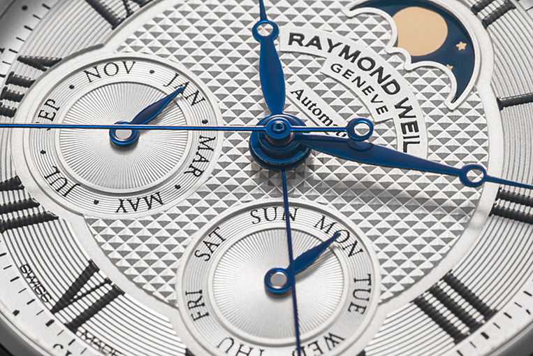 Raymond Weil Maestro Automatic Moon Phase close up