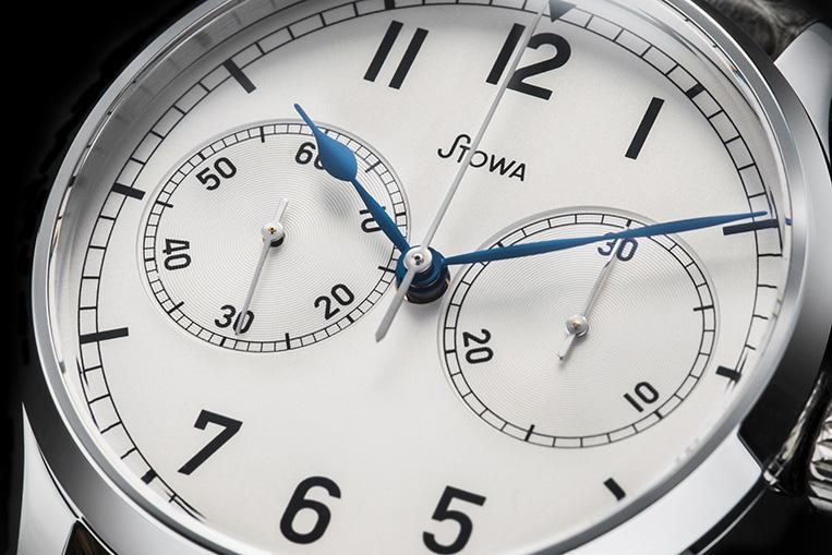 Stowa Marine Chronograph dial closeup