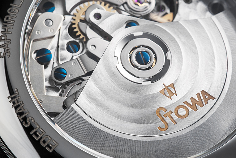Stowa Marine Chronograph movement closeup