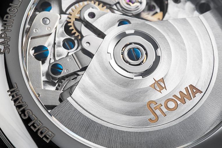 Stowa Marine Chronograph movement closeup