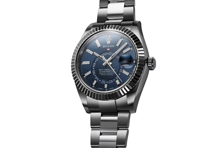 The steel (and white gold) Sky-Dweller 326934